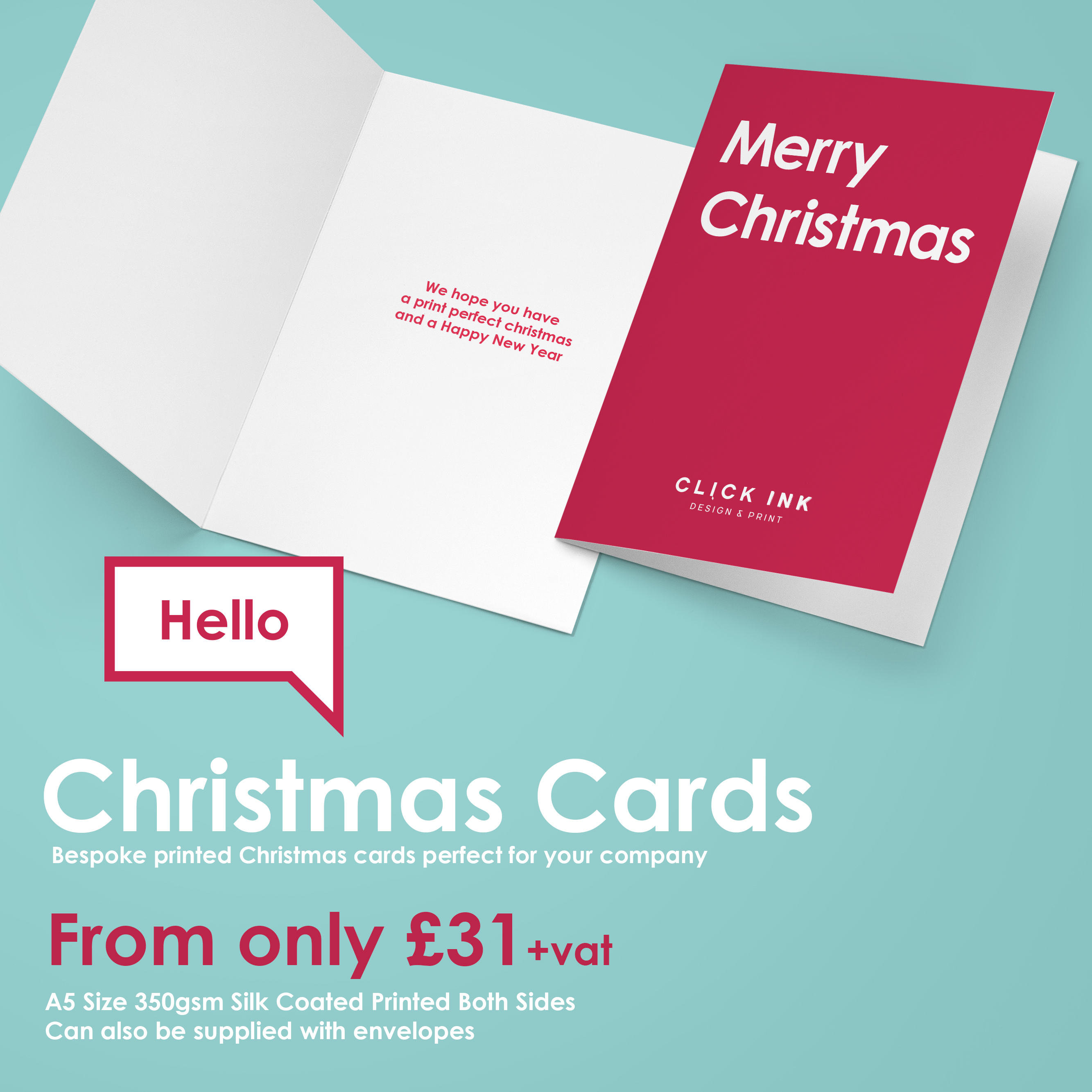 christmas card printing click ink design print